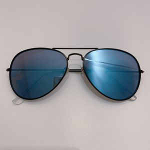 Blue Mirrored Aviator Sunglasses (Flat Lens) for Sale in Seattle, WA