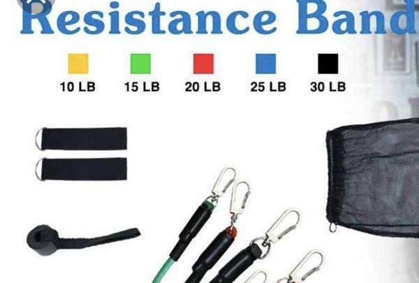Resistance Bands Workout Exercises 11Pcs Set(same day shipping)