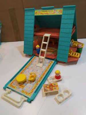 Vintage Fisher Price Little People A Frame House for Sale in Annandale, VA