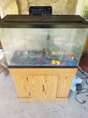 29 gallon fish tank with cabinet for Sale in Rockvale, TN