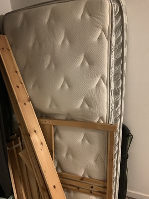 Twin bed 11 inch memory foam mattress with Frame for Sale in Seattle, WA