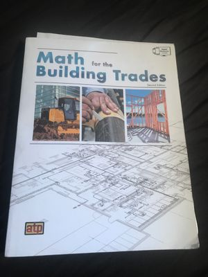 Math for the building trades workbook for Sale in Corona, CA