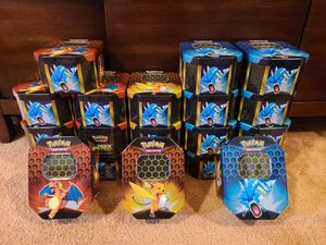 21x Pokemon Hidden Fates Tins (Empty) for Sale in Gambrills, MD