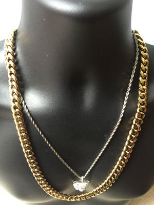 Cyber Monday Sale!! 14KT Gold Filled Cuban Chain and a matching Bracelet. All sizes available!! Best Top Quality!! We do custom work!! for Sale in Crawfordville, GA