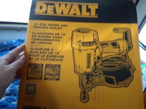 Dewalt 15 degree coil nail gun for Sale in Kansas City, KS