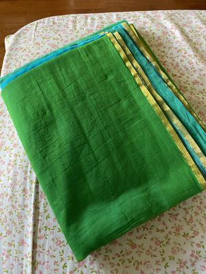 Blue and green chiffon indian saree for Sale in Columbia, MD