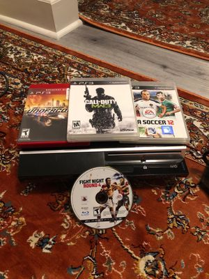 PS3 2 controllers 4 games for Sale in Nashville, TN