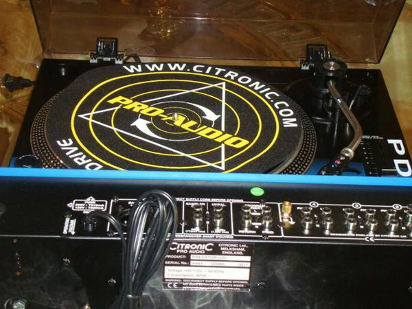 Citronic PD-1 turnable, Citronic pro audio DJ mixer