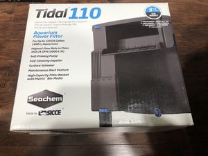Seachem Tidal 110 Hang On Back Filter for Aquarium/Fish Tank for Sale in Round Rock, TX