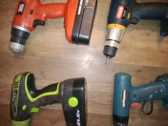 Drills x4 (3 Have Batteries But No Chargers, 1 Has No Battery Or Charger) for Sale in Oregon City,  OR