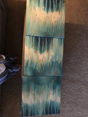 3 panel canvas paintings for Sale in High Point, NC