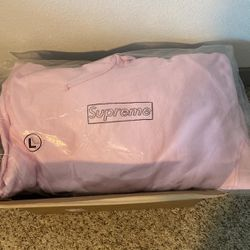 Supreme Kaws chalk bogo Sweatshirt -Large Light Pink for Sale in Anaheim,  CA