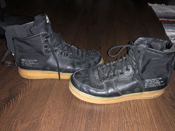 Nike Air SF AF1 Mid Men's Black Urban Utility Shoes Size 8 Goddess Of Victory