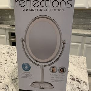 New Conair Reflections LED Double-Side Lighted Vanity Makeup Mirror 1x/7x magnification Satin Nickel for Sale in Las Vegas, NV