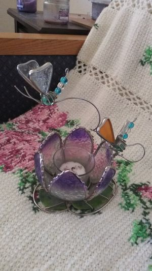 Handmade stained glass candleholder for Sale in Apache Junction, AZ
