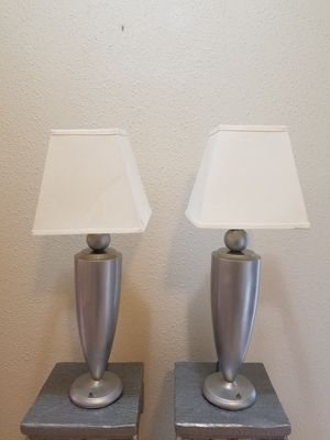 Just ✌ Table lamp Silver set for Sale in Berea, OH