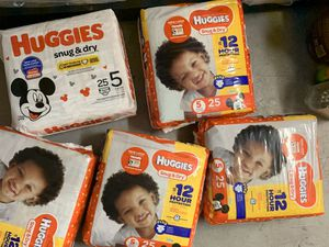 Huggies diapers for Sale in Pompano Beach, FL