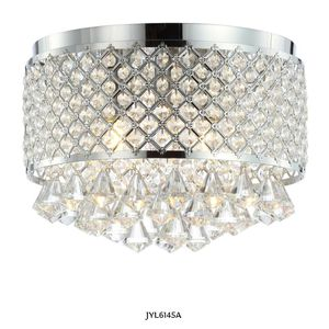 JONATHAN Y Evelyn 14.7 in. 3-Light Crystal Drops/Metal LED Flush Mount, Chrome for Sale in Dallas, TX