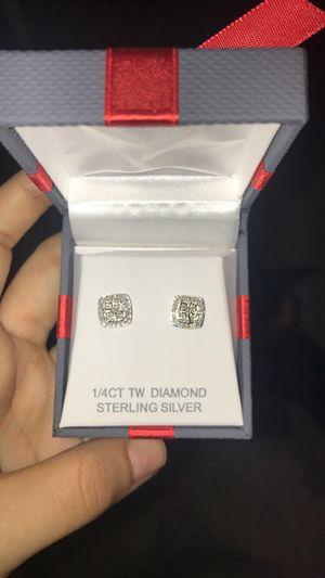 1/4CTTW Diamond Stud Earrings for Sale in Saint CLR SHORES, MI