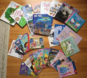 Selection of 30 kids books Thomas, Dora, Hello Kitty for Sale in Los Angeles, CA