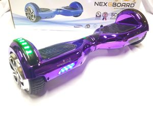 Chrome purple Bluetooth hoverboard with bumper and wheel lights for Sale in Atlanta, GA