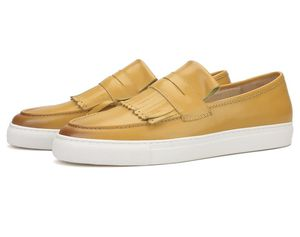 Men's yellow calfskin fringes Shoes for Sale in Charlotte, NC