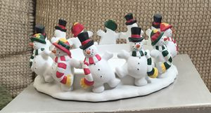 Party Lite Snowman 3 Wick Candle Holder for Sale in Albuquerque, NM