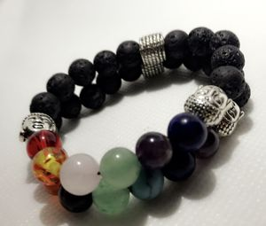 7 Chakra Bracelet 7 Chakra Onyx Bracelet, 7 Chakra Balancing Bracelet, 7 Chakra Yoga Meditation Bracelet 7 Chakra Buddha Bracelet, 7 Chakra for Sale in Lake Mary, FL