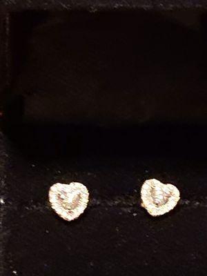 Diamond Heart Shape Earrings for Sale in Walled Lake, MI