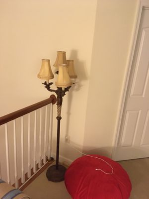 Floor lamp with 4 shades for Sale in Columbia, MD