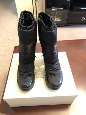 Coach rain/snow boots for Sale in Jacksonville, FL