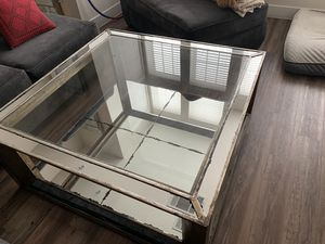 High Fashion Home Mirrored Coffee Table for Sale in Houston, TX