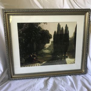 Northern Renaissance Style Print & Ornate Frame for Sale in Los Angeles, CA