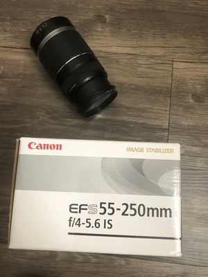 Canon - EF-S 55-250mm f/4-5.6 IS STM Telephoto Zoom Lens for Sale in Miami Gardens, FL