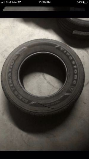Two tires both 255/70/17. One Firestone Destination & One Firestone. Both have 90% tread for Sale in Temecula, CA