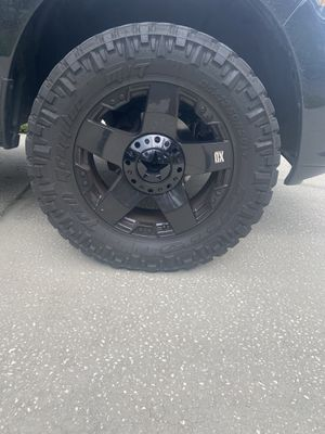 20x10 5x5.5 rockstar rims power coated gloss black. Came off 2019 ram 1500... for Sale in Tampa, FL