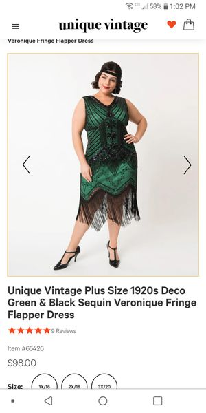 1920s flapper dress for Sale in Lakewood Township, NJ