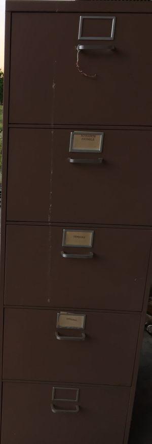 Metal filing cabinet 5 drawer for Sale in Sanger, CA