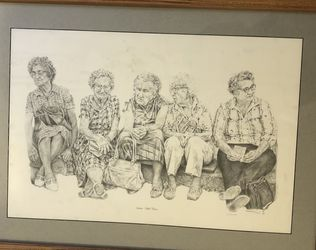 """Pencil Drawing, """"Women With Purses"""" for Sale in Falls Church,  VA"""