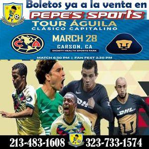 Club America vs Pumas, vendemos tickets. for Sale in Los Angeles, CA