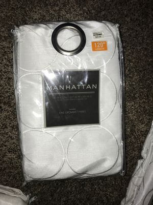 120 inch Manhattan brand curtains for Sale in Parkersburg, WV