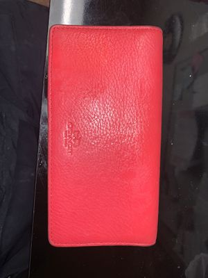 Red coach leather check book holder for Sale in Tacoma, WA