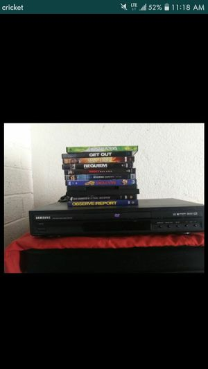 Samsung DVD Player with 11 DVDs for Sale in Phoenix, AZ