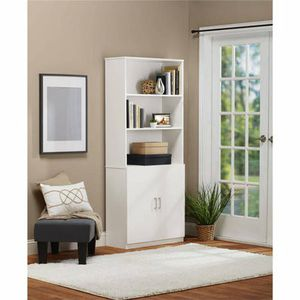 Ameriwood Home Moberly Bookcase with Doors, White for Sale in North Las Vegas, NV