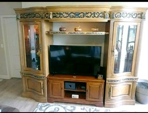 Entertainment Center/ TV stand- Lighted 4 piece for Sale in Fairfield, CA