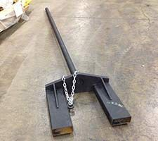 Forklift forks into carpet pole for Sale in Cupertino, CA