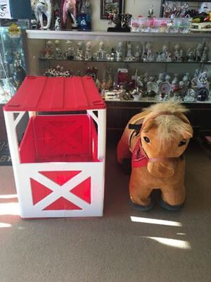 Ride on pony with cage $100 great working conditions for Sale in Burlington, NC