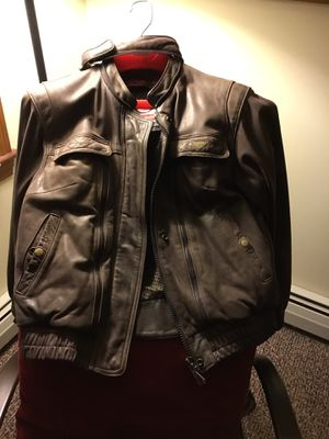 Top brand, First Gear, thick (protective) leather jacket for Sale in Sangerville, ME