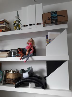Selling 3 Ikea long white floating shelves for Sale in North Bethesda, MD