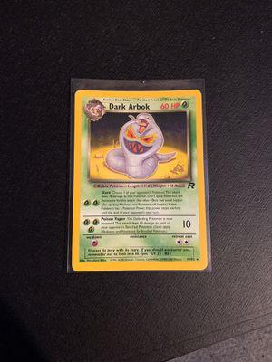 Pokemon Card Dark Arbok Stamped for Sale in Pasadena, MD